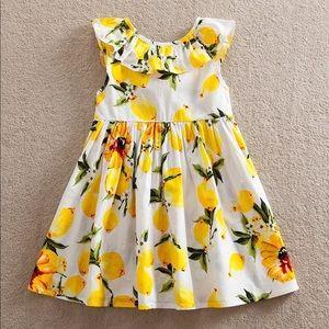 🍋New! Summertime Lemon Yellow Girls Party Dress🍋